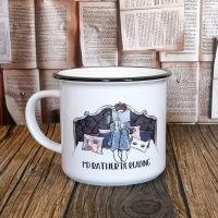 Personalised Ceramic Campfire Style Bookworm Mug - I'd Rather Be Reading Mug