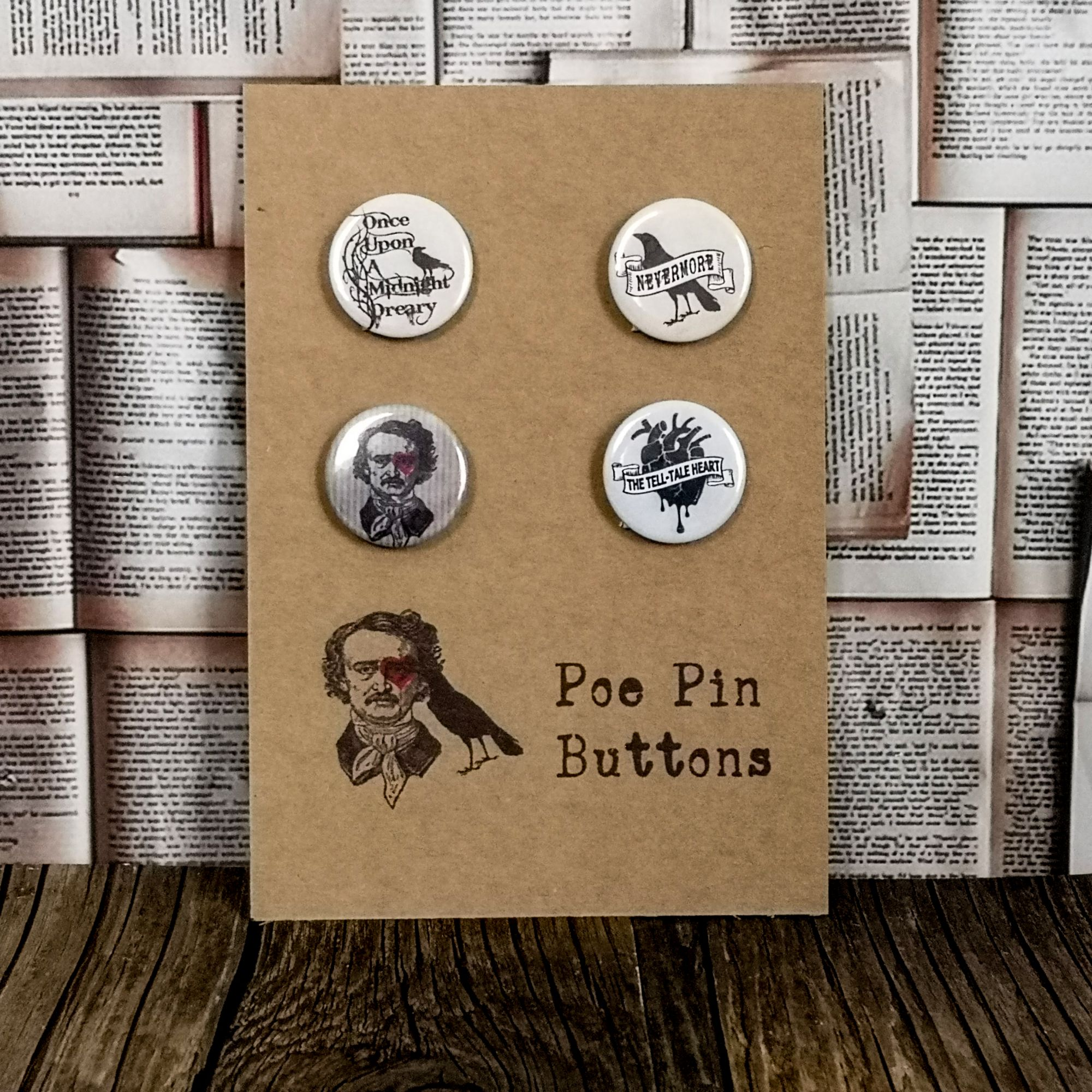 Poe pin buttons
