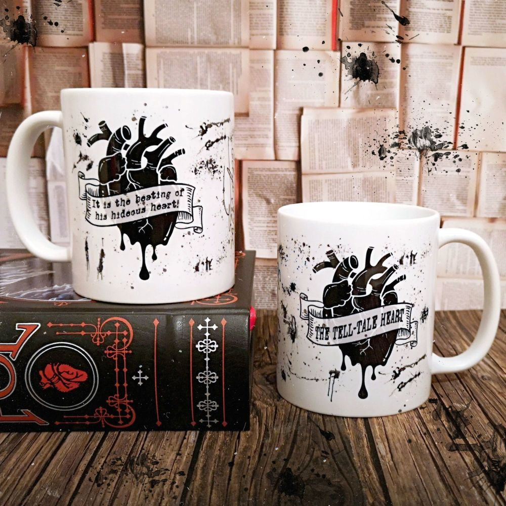 Edgar Allan Poe Gothic Book Mug, The Tell-Tale Heart