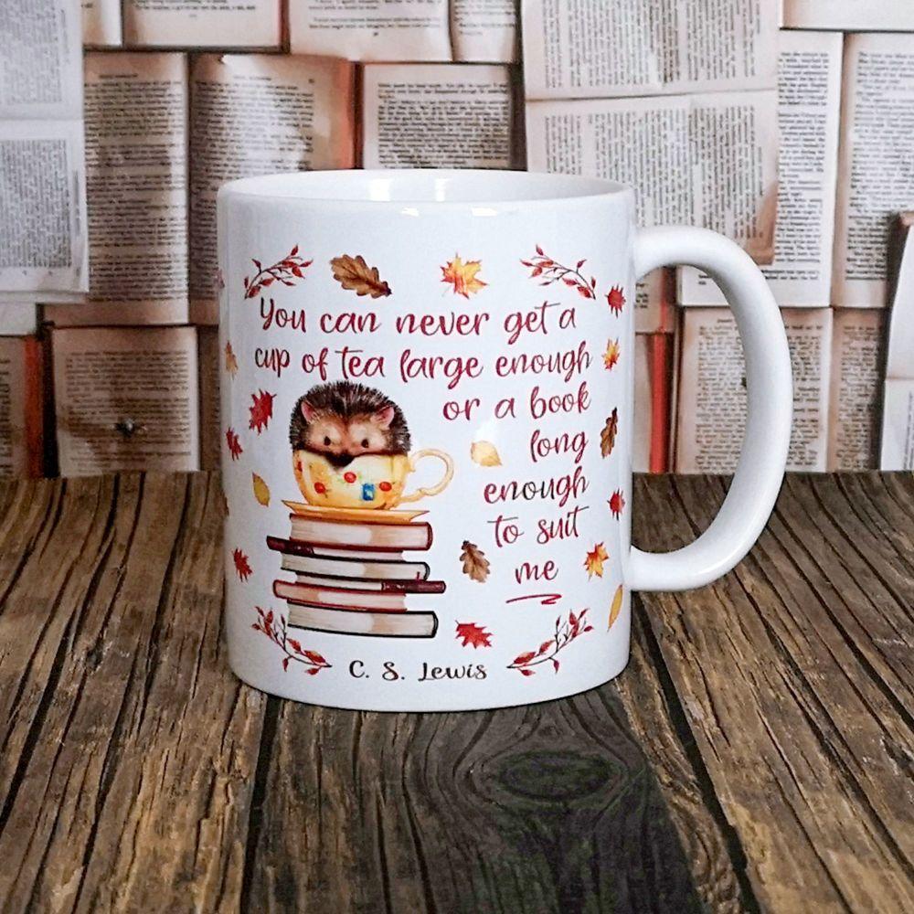C. S. Lewis Books & Tea Hedgehog Mug For Autumn