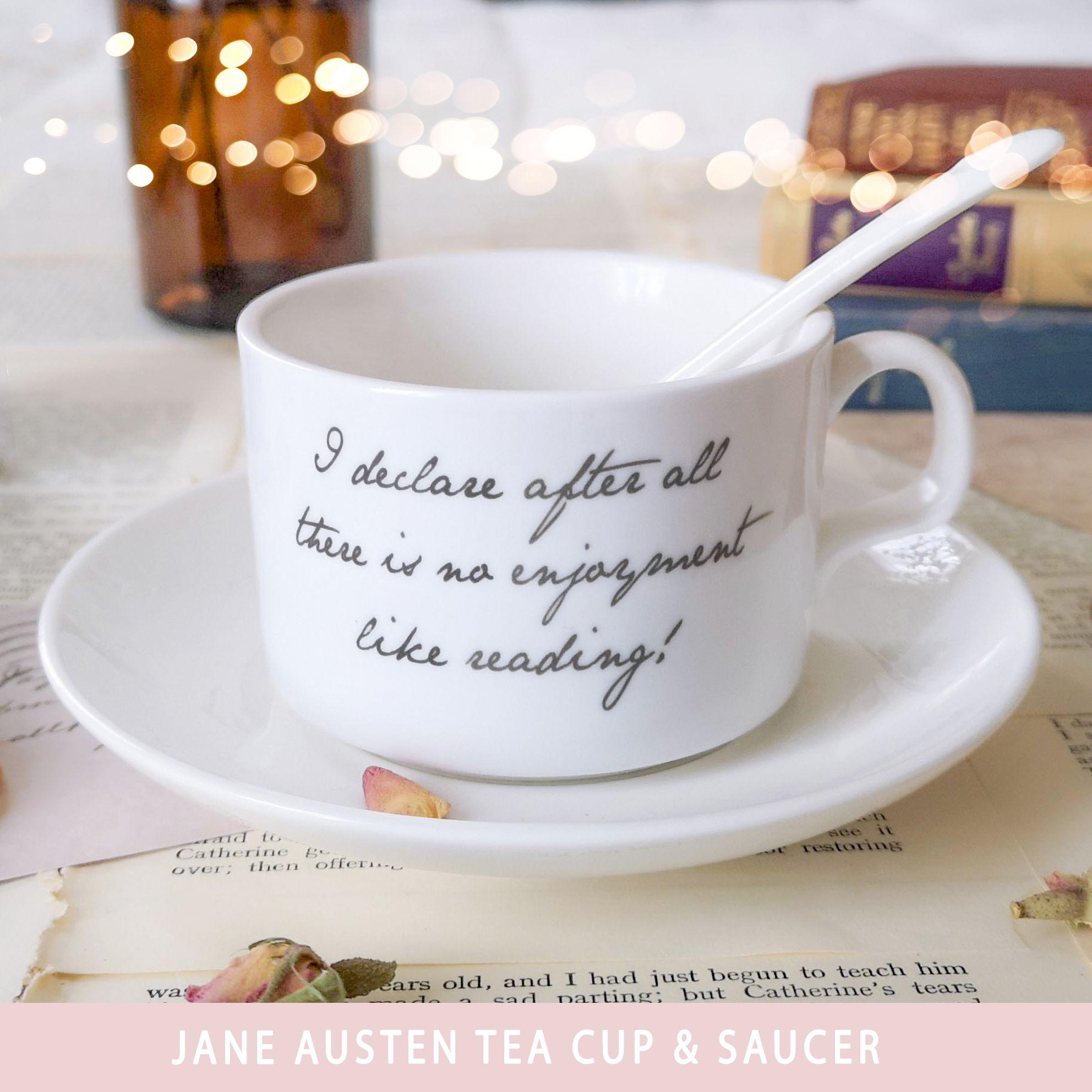 Jane Austen tea cup and saucer