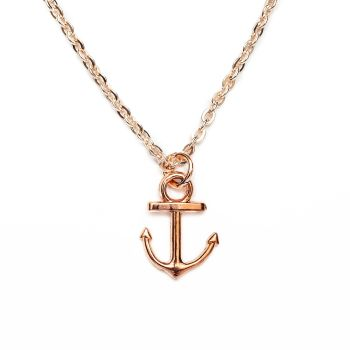 Boho Anchor Necklace - Rose Gold Plated