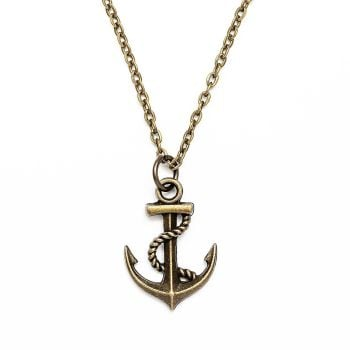 Boho Anchor Necklace - Bronze Plated