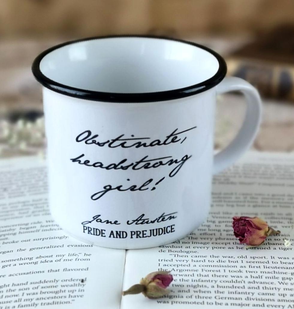 Jane Austen Enamel Mug
