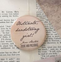 Jane Austen Obstinate Headstrong Girl Pocket Mirror