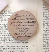 Jane Austen Pocket Mirror ~ You Must Allow Me... Quote