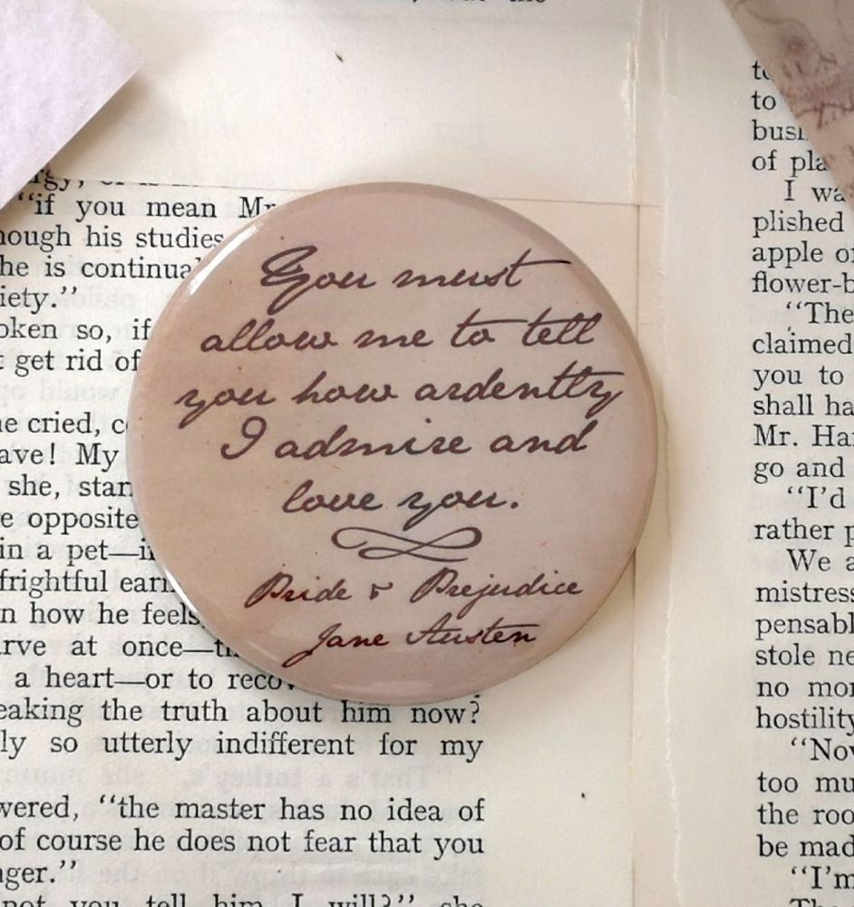 Jane Austen Pocket Mirror ~ You Must Allow Me... Quote