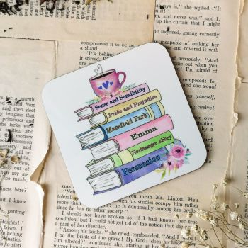 Jane Austen Book Stack Coaster | Gifts For Bookworms