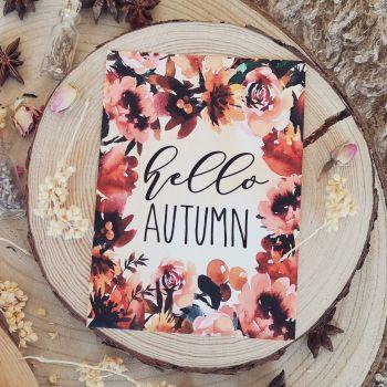 Hello Autumn Print, UNFRAMED A4, A5, A6