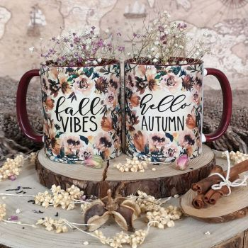 Hello Fall Mug | Hello Autumn Mug | Fall Vibes Mug | Autumn Vibes Mug