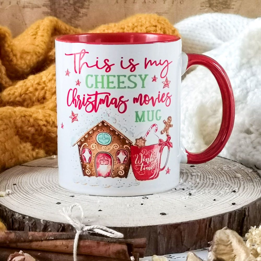 Personalised Cheesy Christmas Movies Mug, This is my Christmas Mug