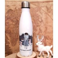 Personalised Bookworm - I'd Rather Be Reading Stainless Steel White Water Bottle