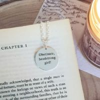 Obstinate Headstrong Girl Round Disc Necklace