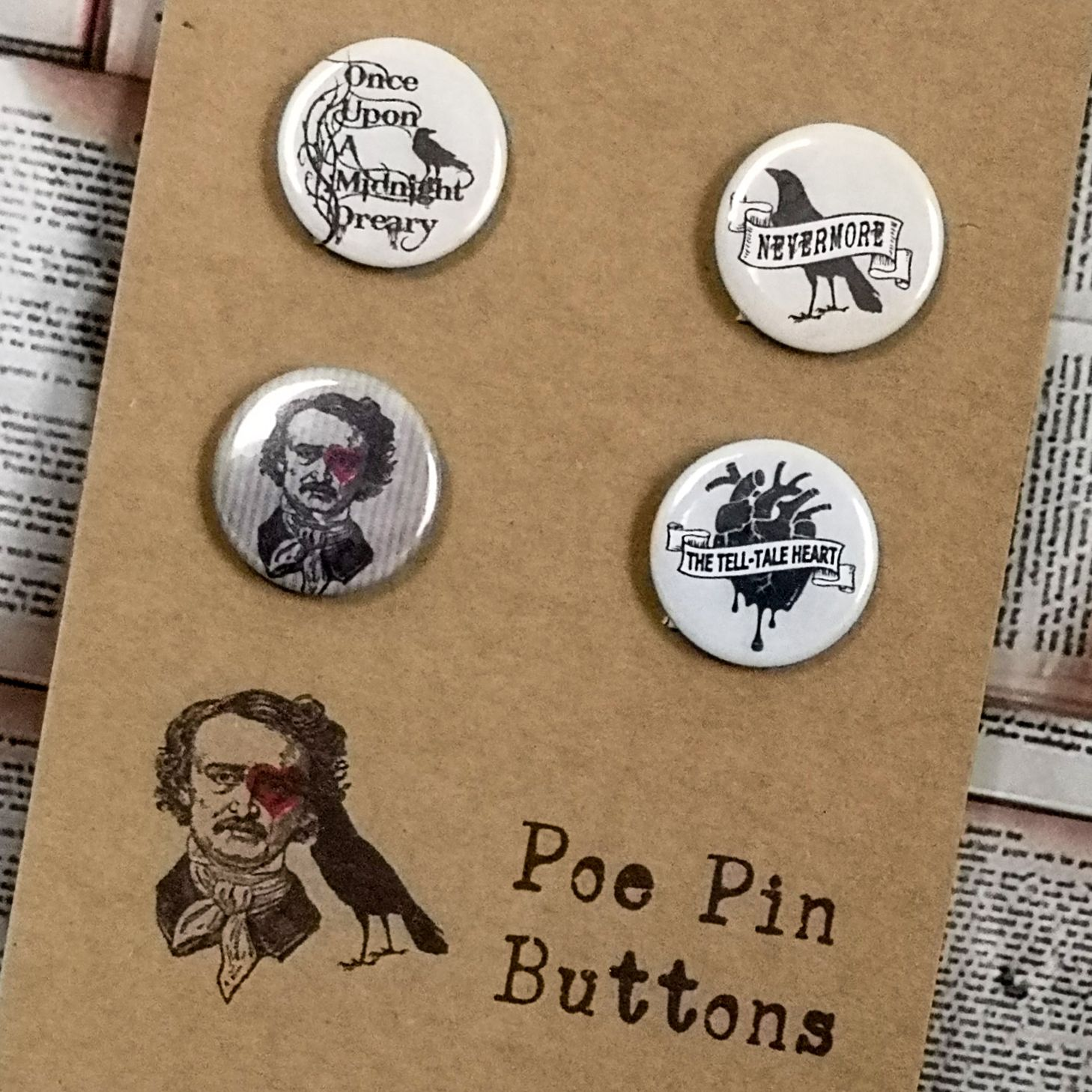 PIN BUTTONS & MIRRORS