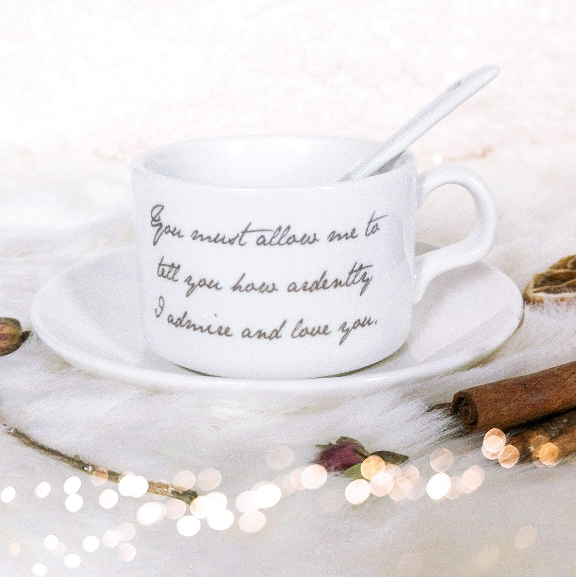 Mr Darcy Tea Cup & Saucer