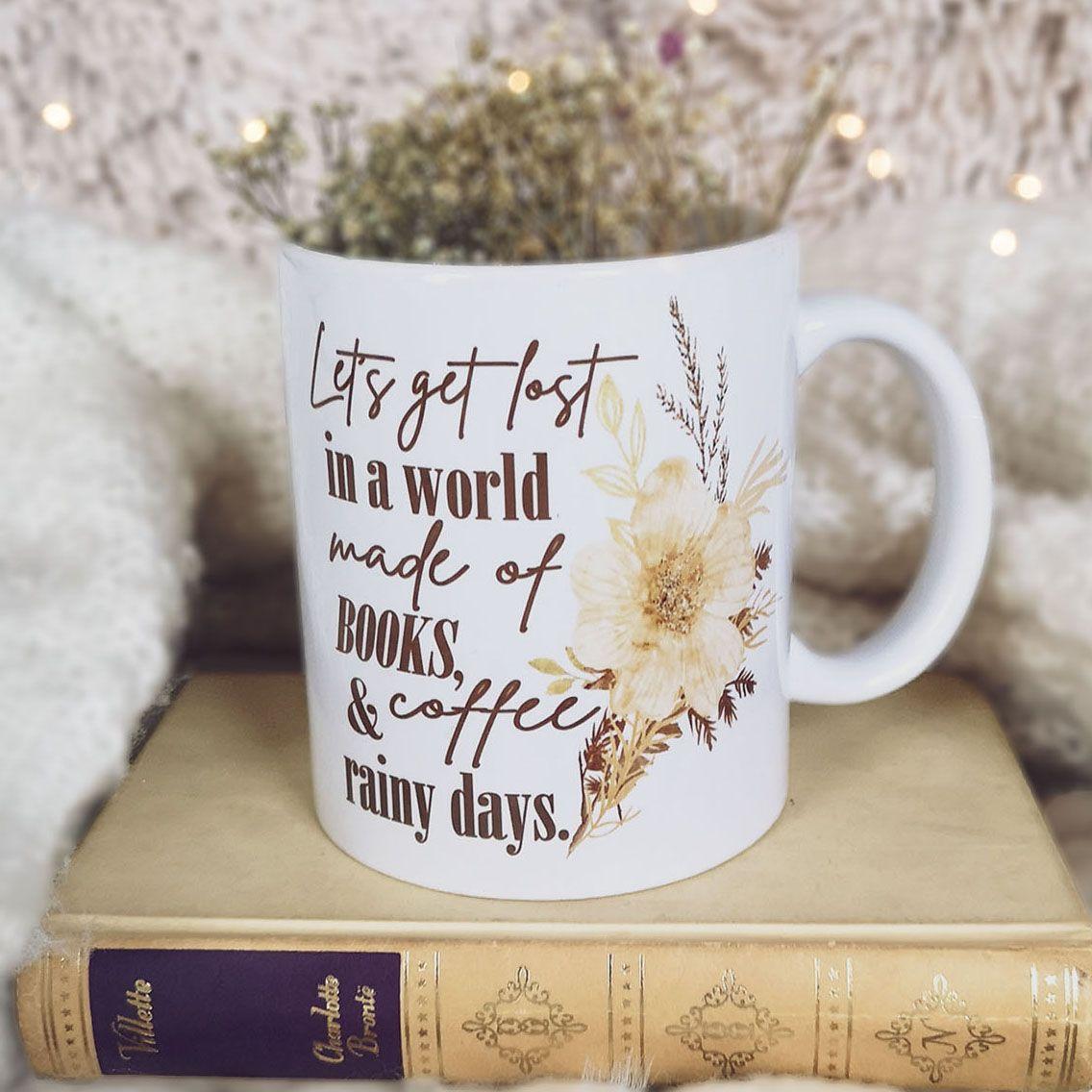 Books, Coffee (or Tea), Rainy Days Mug