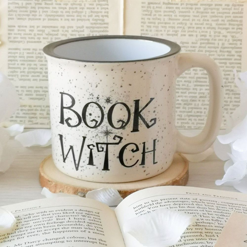 Book Witch Rustic Campfire Mug