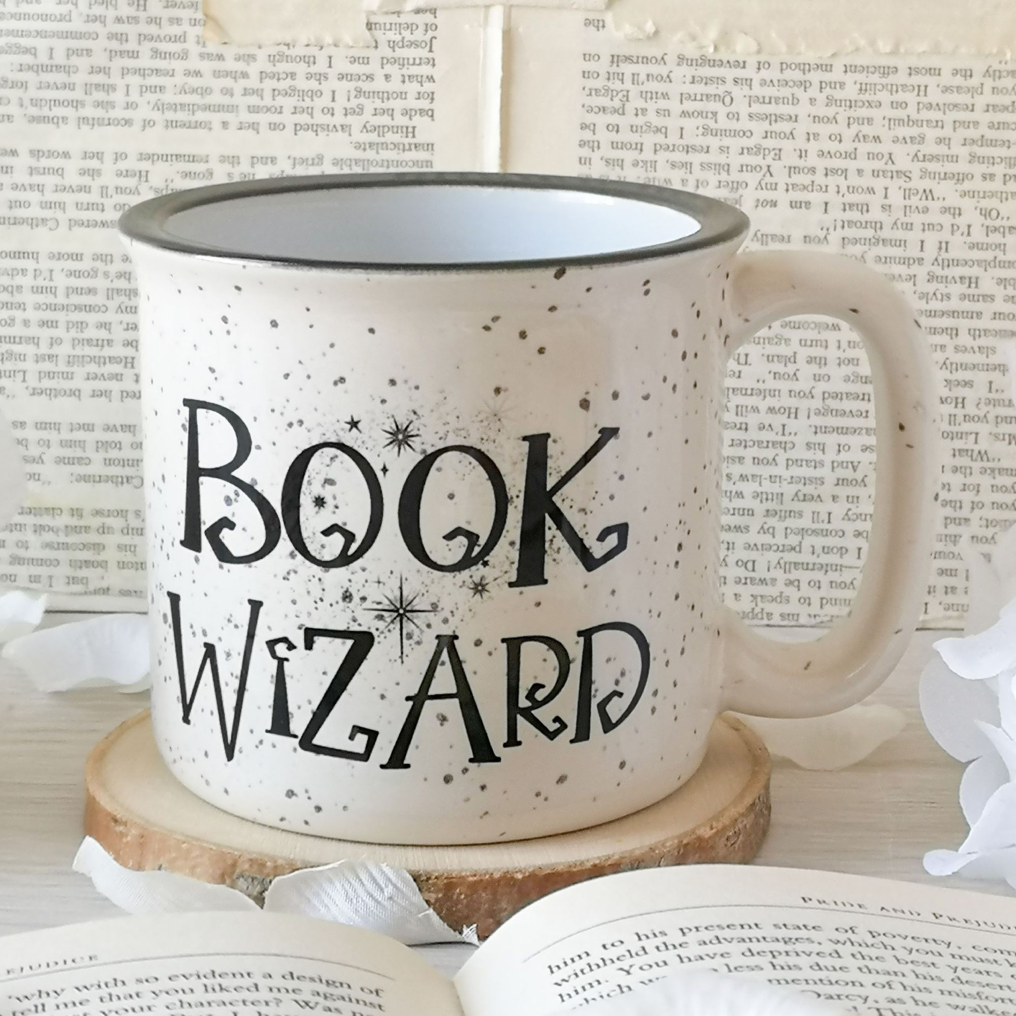 Book Wizard Campfire Mug