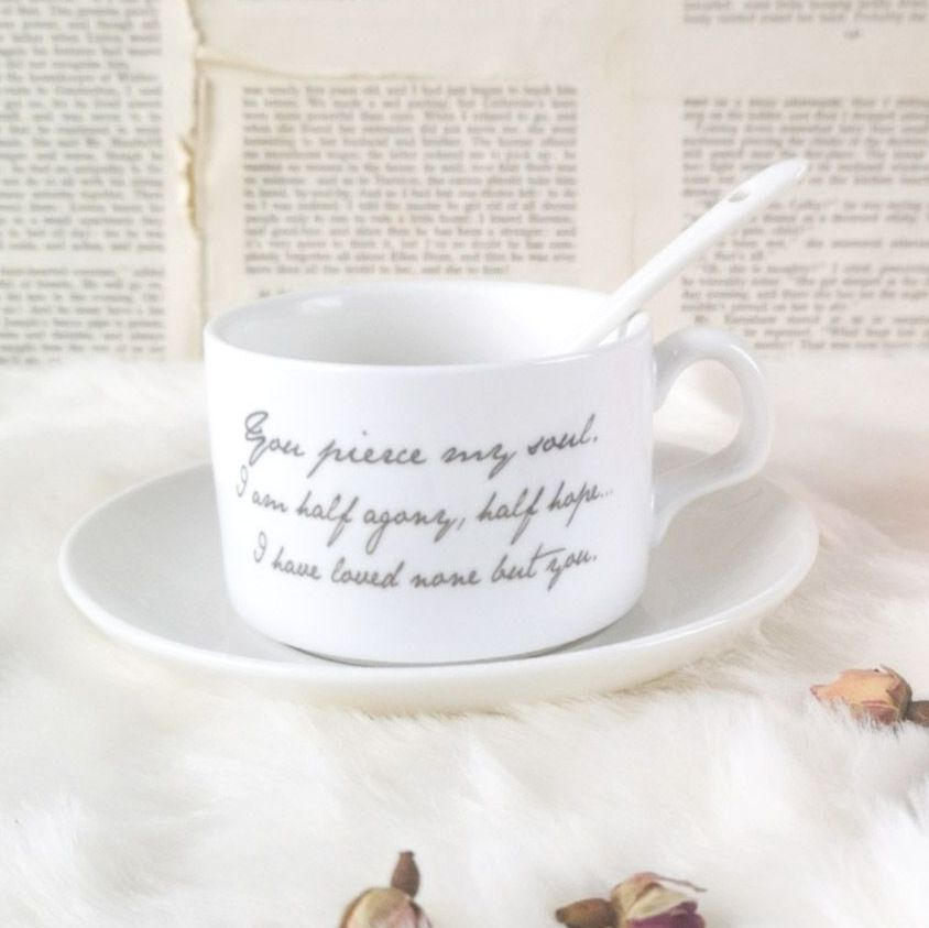 Jane Austen Persuasion Bone China Tea Cup, Saucer & Spoon