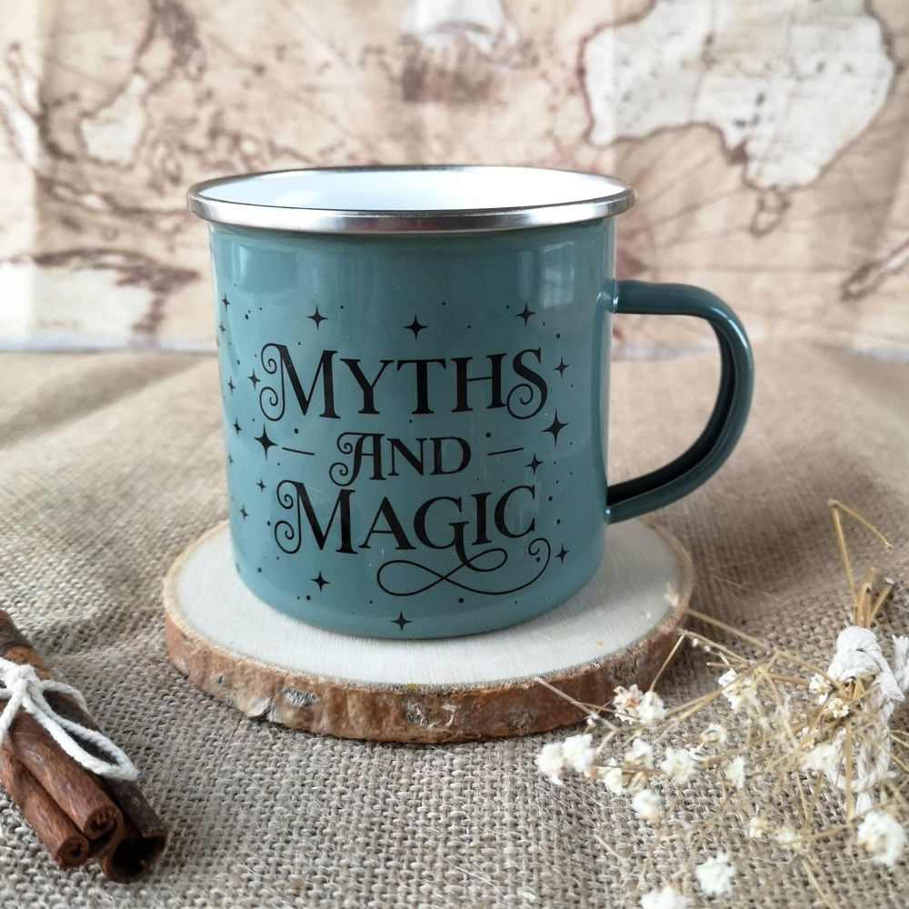 Myths & Magic  Enamel Mug in Pink, Green or White