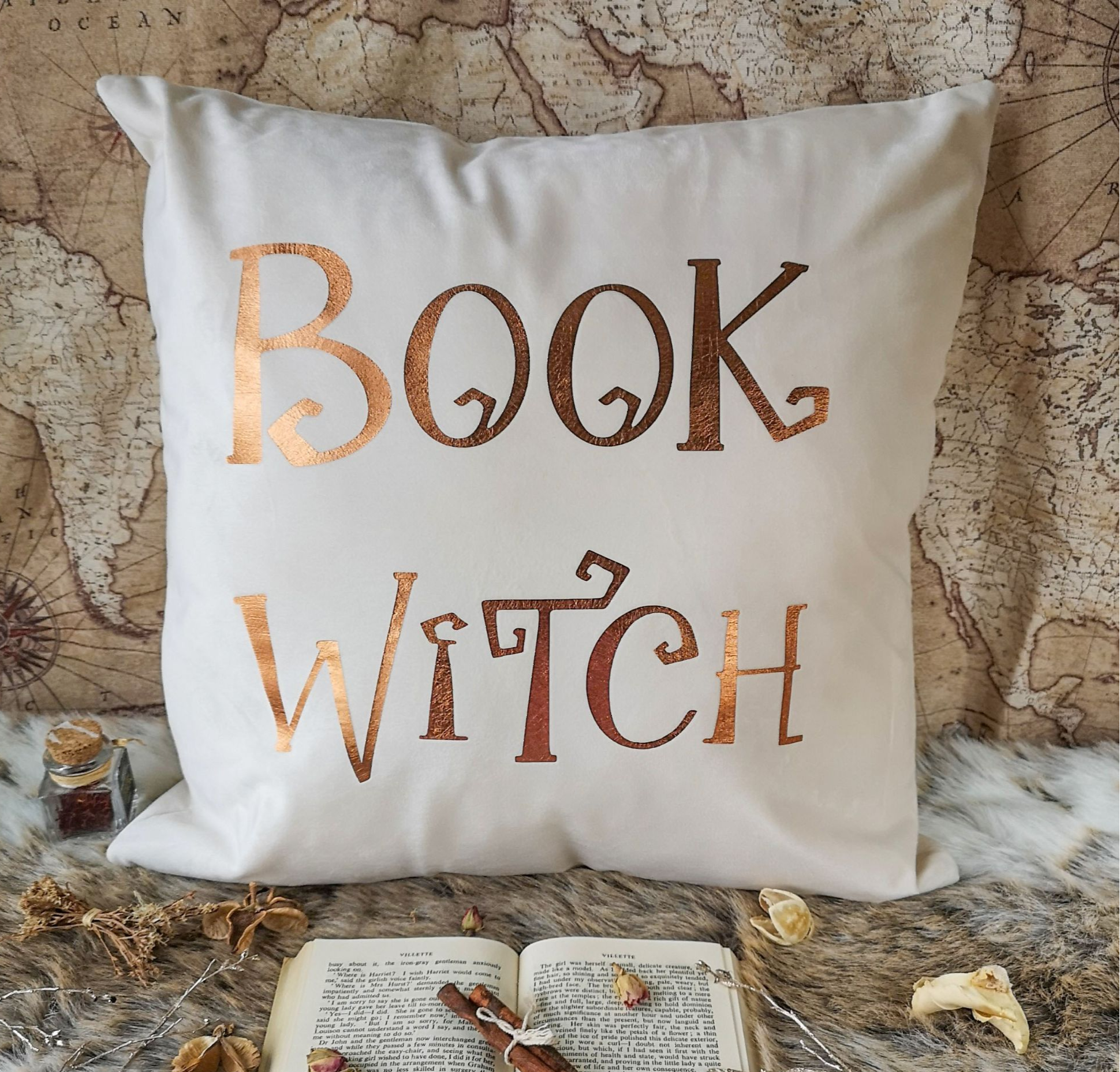 Book Witch Cushion Cover