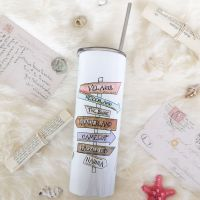 Magical Book Places  20oz Skinny Tumbler With Straw & Lid