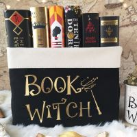 Book Witch Wand Design Canvas Organiser (Large)