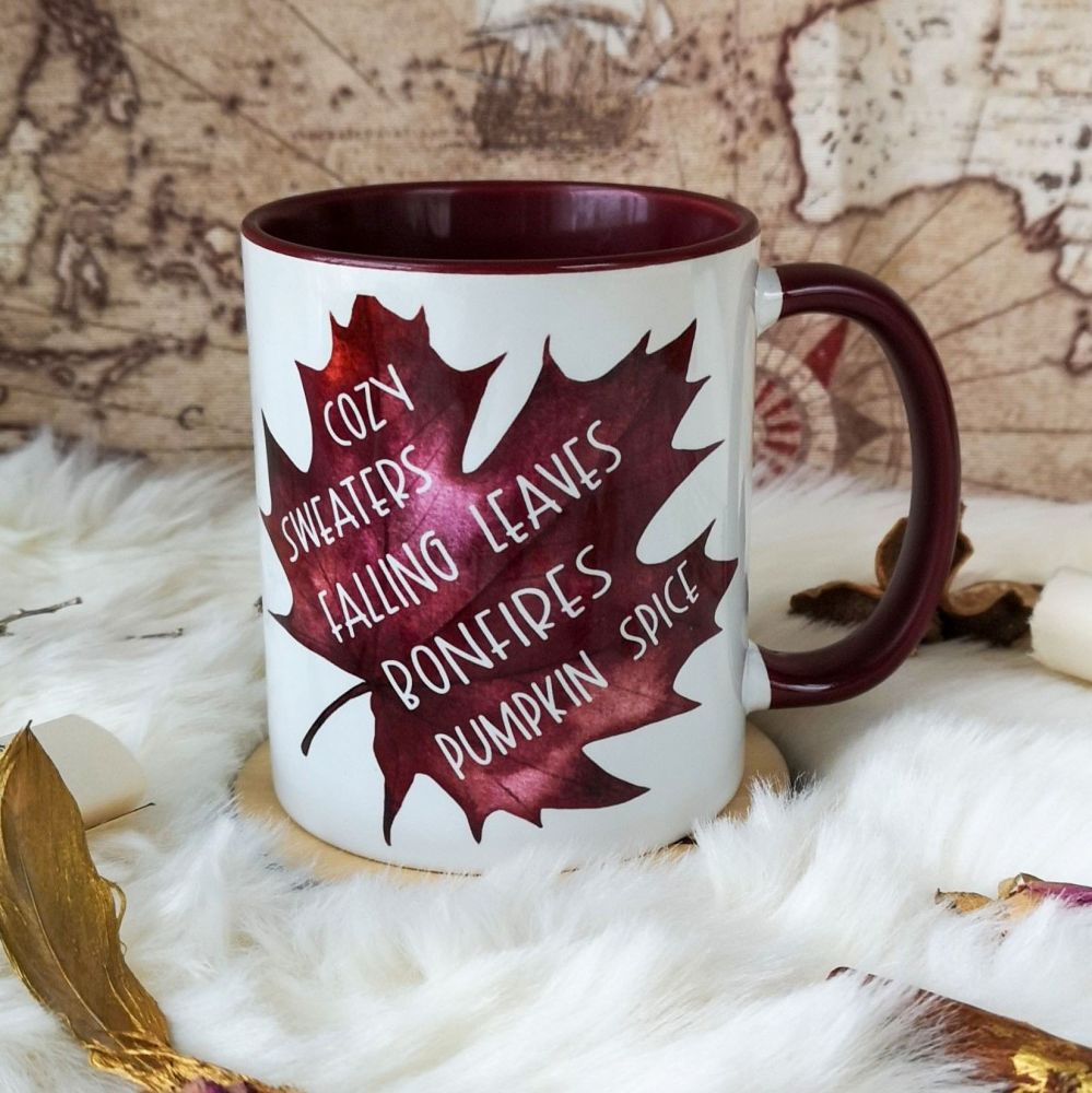 Autumn /Fall Favourites Leaf Mug