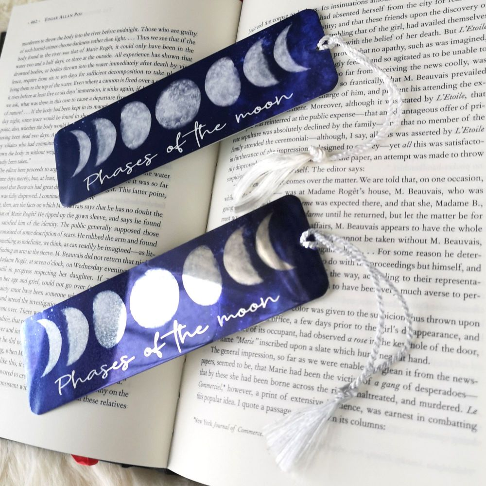 Moon Phases Lunar Bookmark