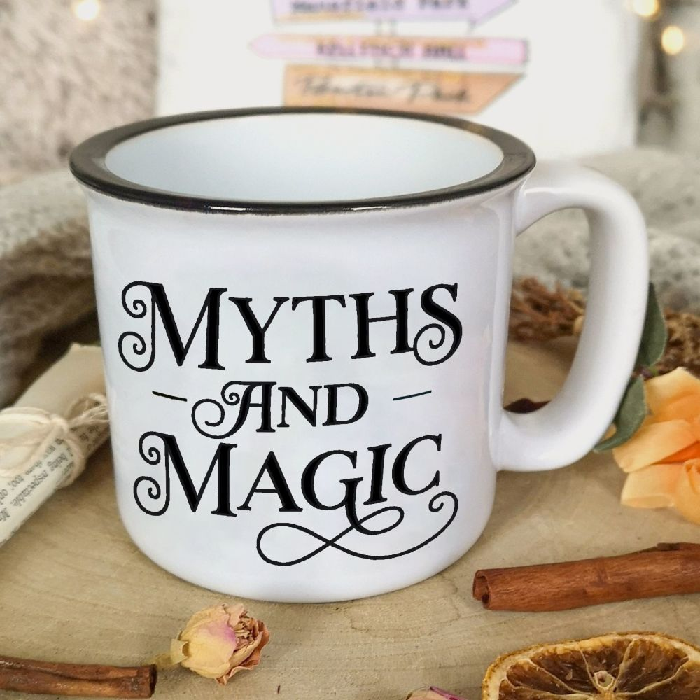 Myths and Magic White Campfire Mug