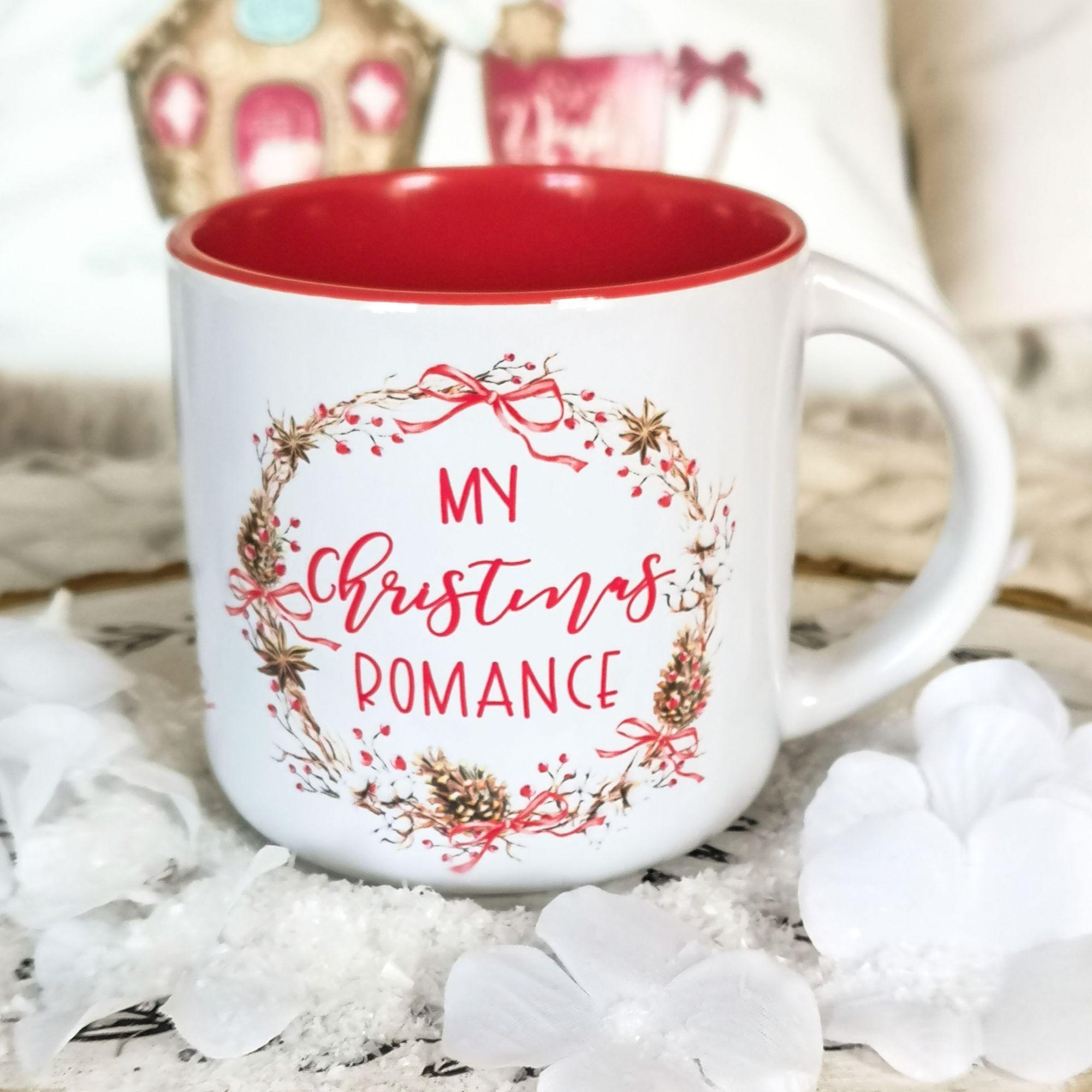Red Christmas Romance Campfire Mug