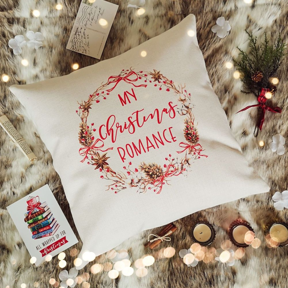 Christmas Cushion Cover - My Christmas Romance - Red