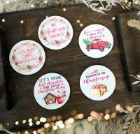Christmas Coasters -  Choose from 5 different designs