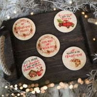 Christmas Coasters - Wooden - Choose from 5 different designs