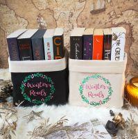 Canvas Organiser Winter Reads - in black or cream - pink version