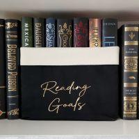 Canvas Organiser Reading Goals  Black/Cream/Gold (Large)