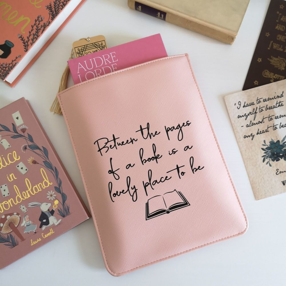 Book Sleeve - Book Quote - Mock Leather Book Sleeve For Paperbacks
