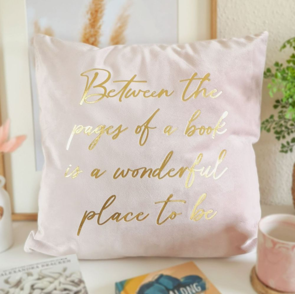 Bookish Quote Cushion Cover Velvet