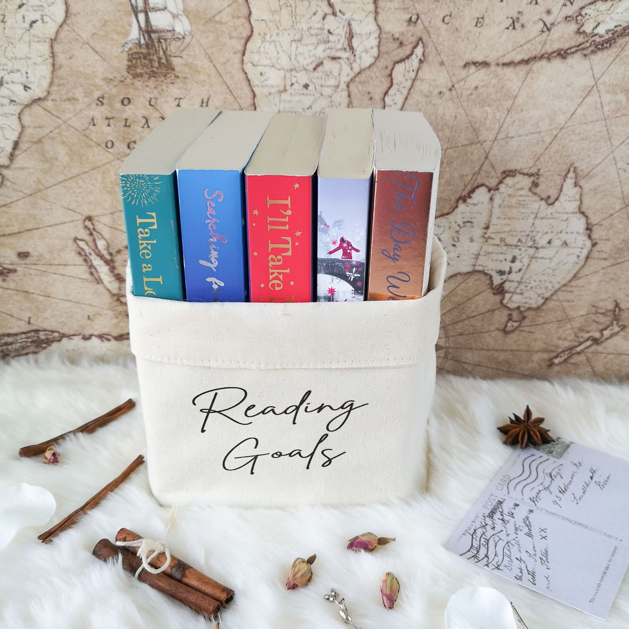 Reading Goals Book Basket