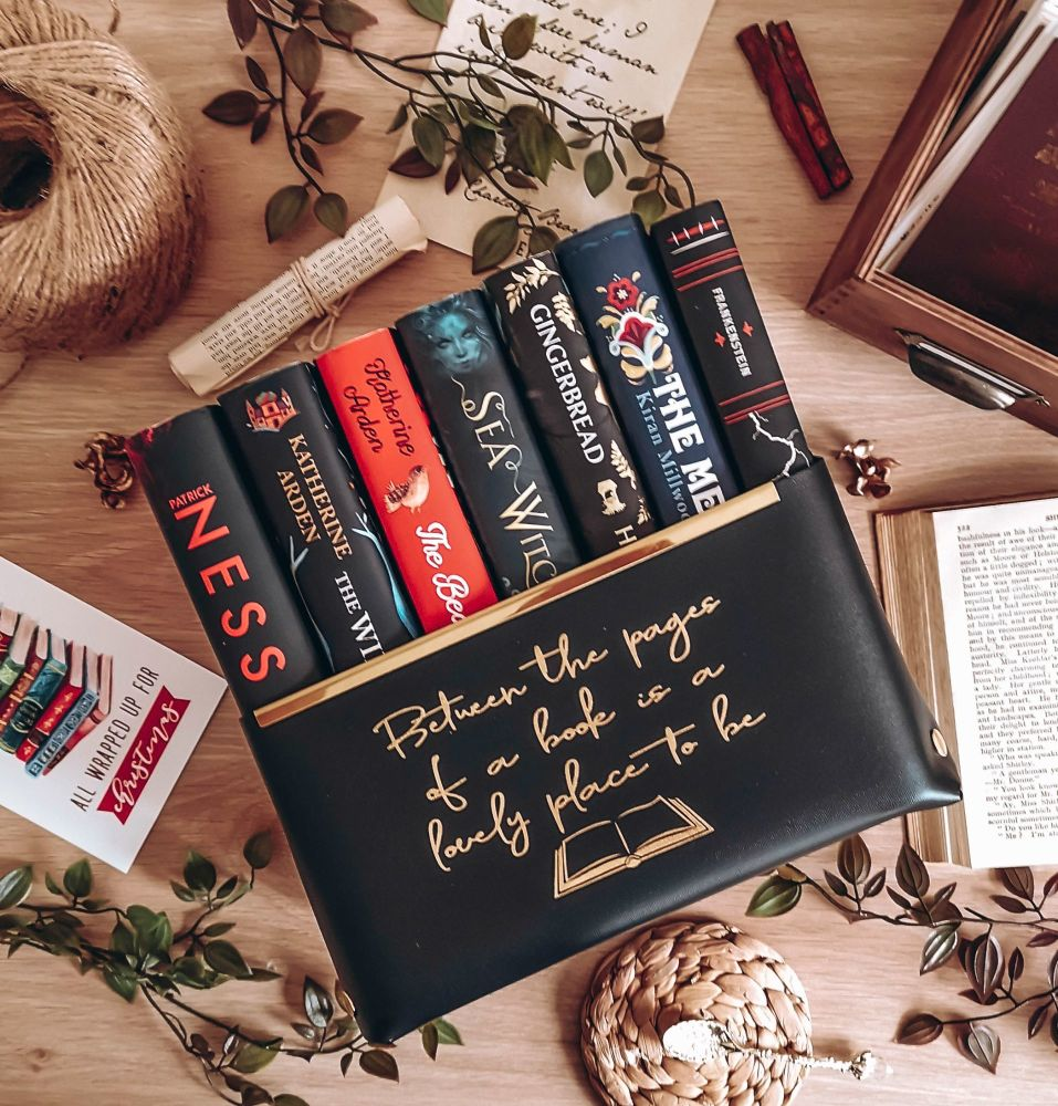 Book Quote Mock Leather Storage Basket