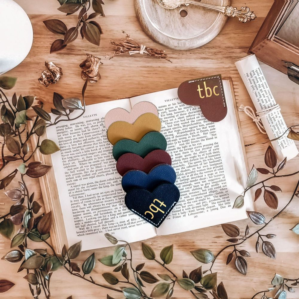 tbc  Heart Shaped Bookmark Page Marker
