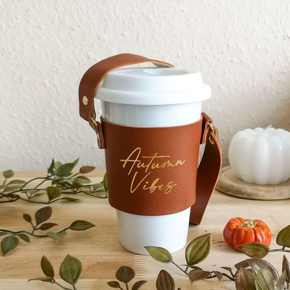 Coffee Cup Sleeve, Autumn Vibes Original