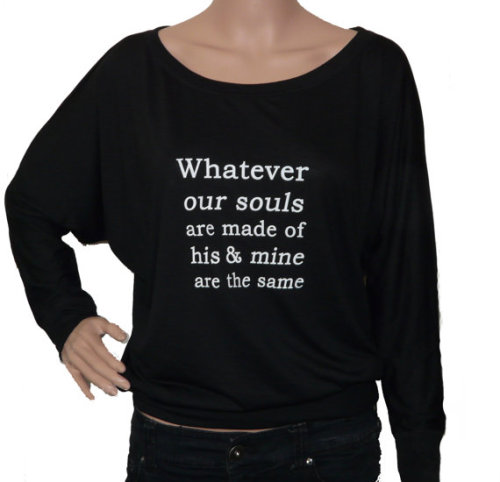 wuthering heights long sleeve black t-shirt