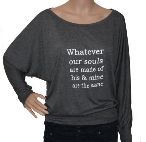 wuthering heights long sleeve grey t-shirt