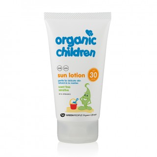 NEW Organic Children Sun Lotion SPF30 – Scent Free 150ml