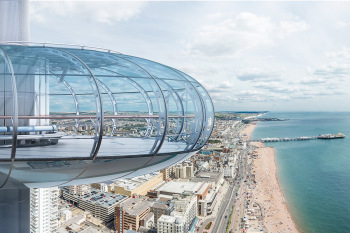 Take in the sights of Sussex from the British Airways i360