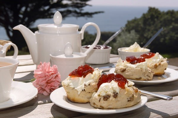 Tuck into Afternoon Tea - this is an Amberley Castle in Sussex