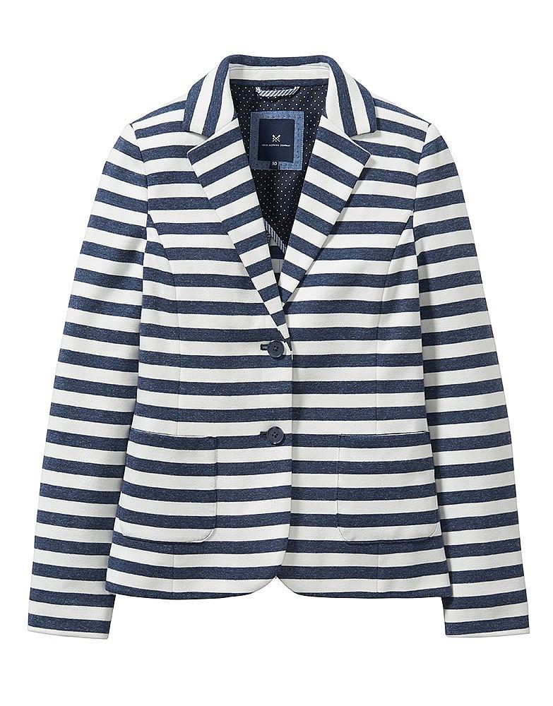 Paignton Jersey Stripe Blazer In Navy