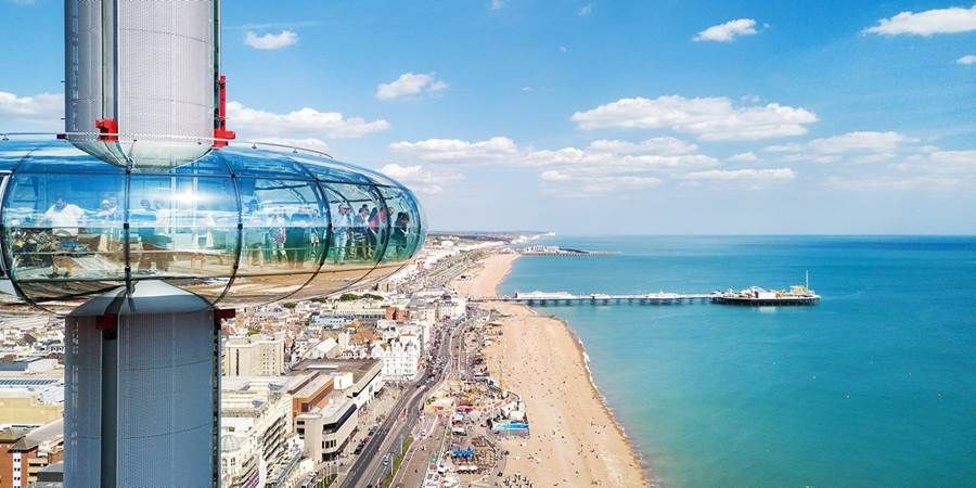 Brighton observation tower with bubbly, save up to 40%