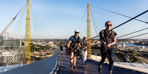 Climb the roof of The O2 and save up to 20% on the usual cost.